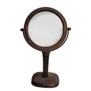 Antiqued Copper Flip Makeup Mirror Normal/ Magnify
